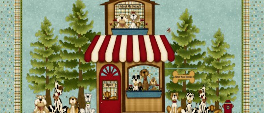 Telas de patchwork, henry glass, Pet Rescue