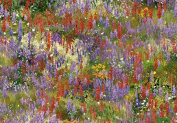Tela de patchwork con un estilo floral