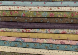 Telas de patchwork de Henry Glass and Co,Garden Whimsy de Anni downs de Hatched and Patched