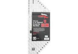 "Creative Grids 6"" 45º Diamond & Lone Star Bias ruler"