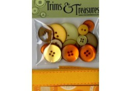 trims and treasures orange print