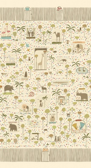 Tela de patchwork To the Zoo de Henry Glass and Co.