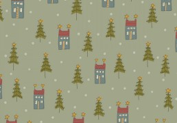Tela de patchwork, Home for Christmas, by Anni Downs